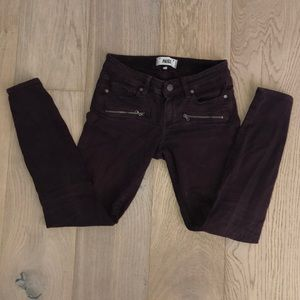 Paige mulberry color skinny jeans